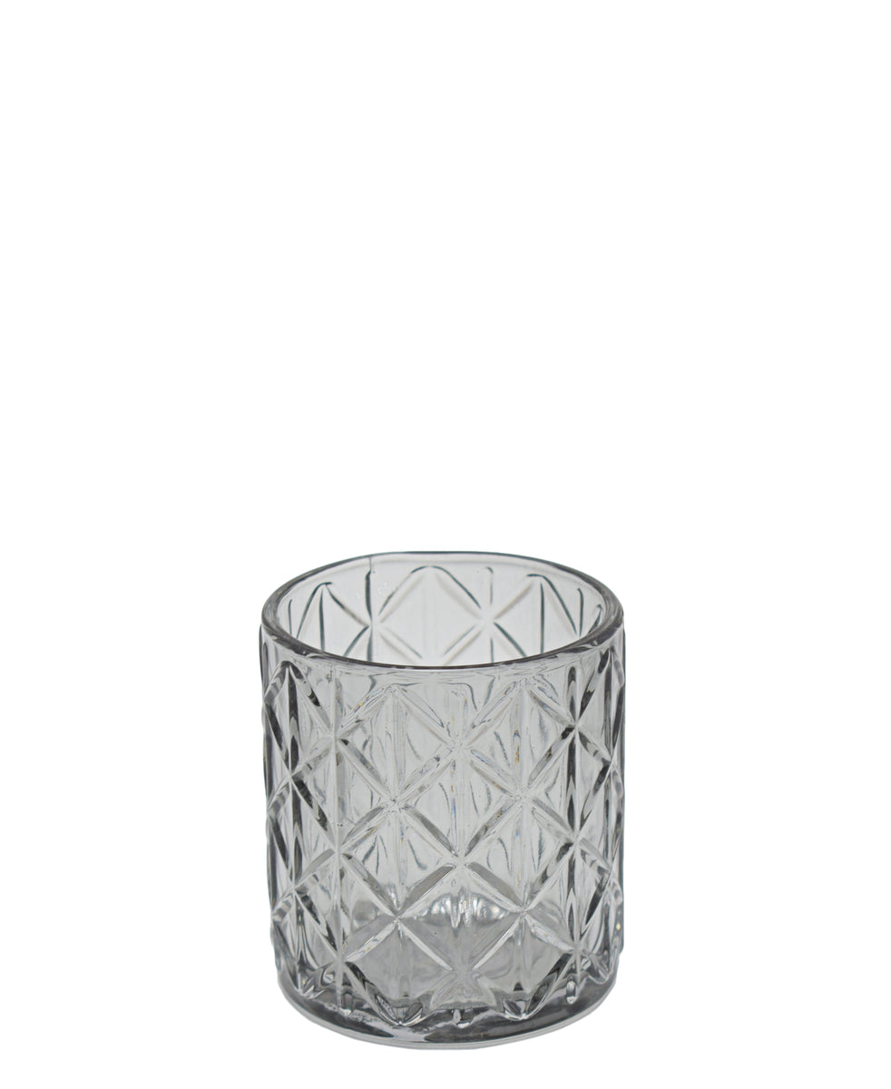 Eetrite Diamond Tumbler 8cm - Smoked Grey