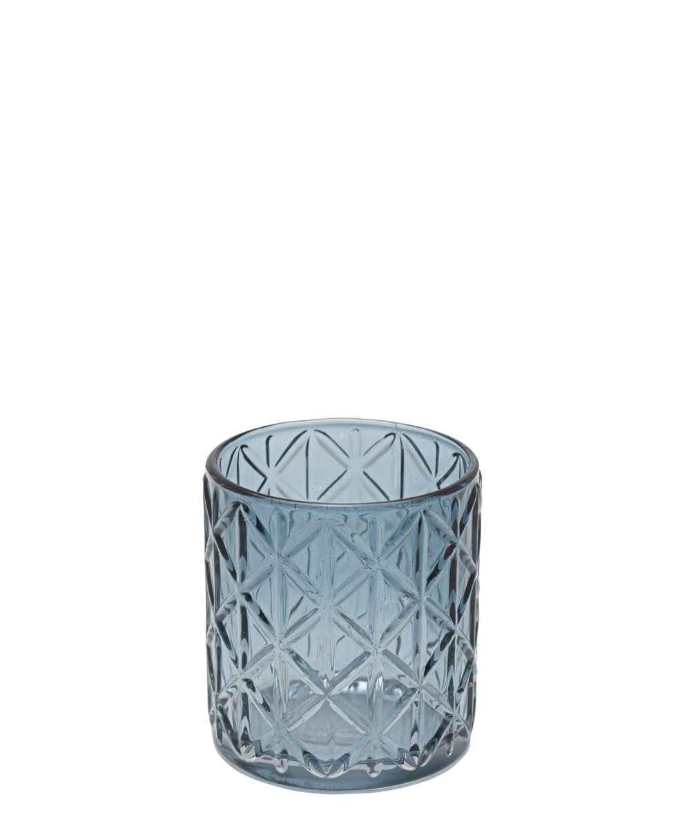 Eetrite Diamond Tumbler 8cm - Smoked Blue
