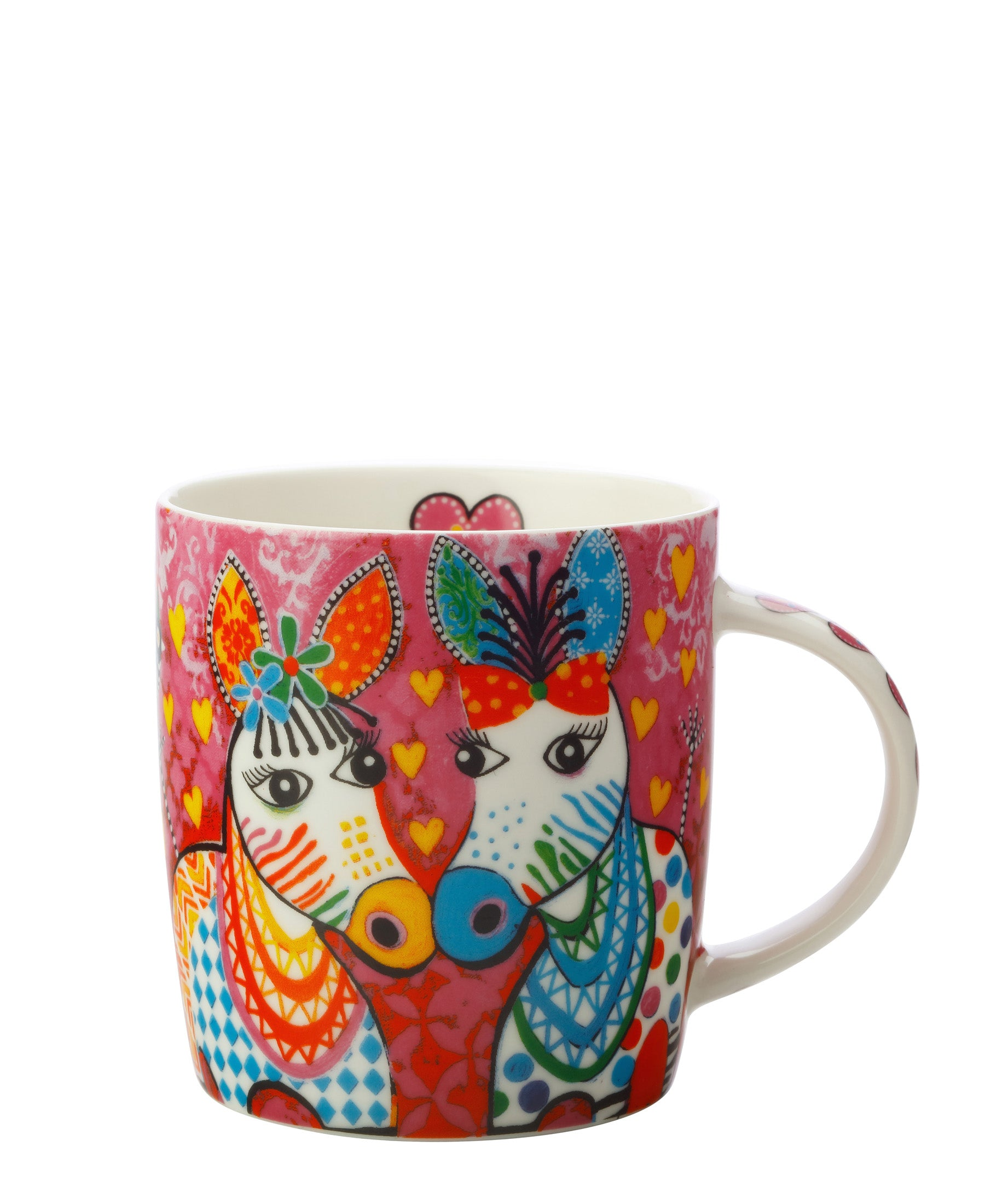 Love Hearts Zebra Mug 370ml