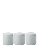 Epicurious Canister 600ML Set Of 3 White Gift Boxed