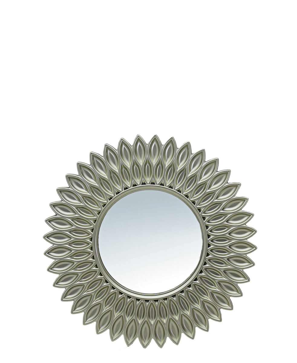 Feather Mirror - Silver