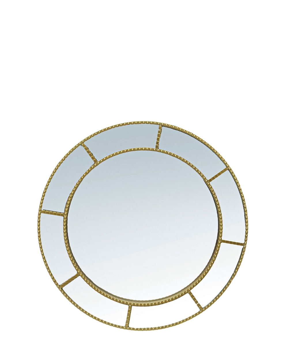 Beaded Mirror - Gold