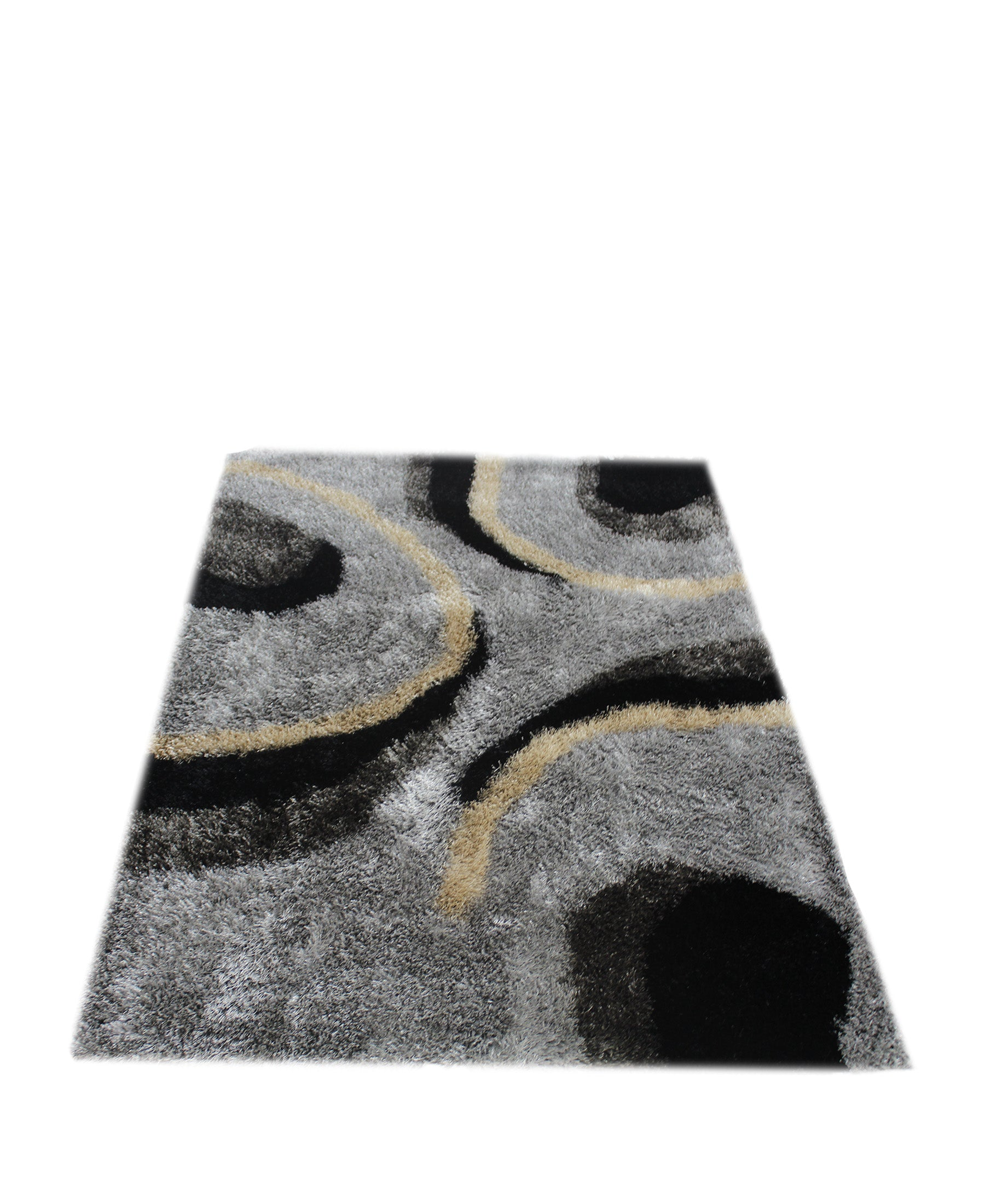 Emporium Shaggy Carpet 1200mm x 1600mm - Black & Grey