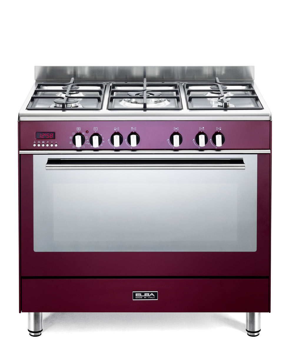 Elba Excellent Gas Stove Wine Red