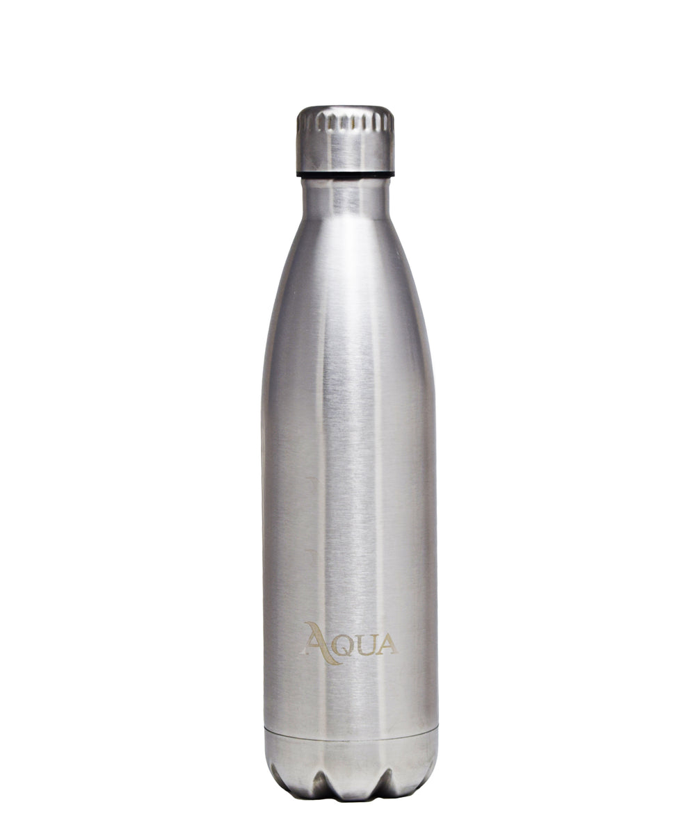 Aqua Double Wall Insulated 500ml Flask - Silver