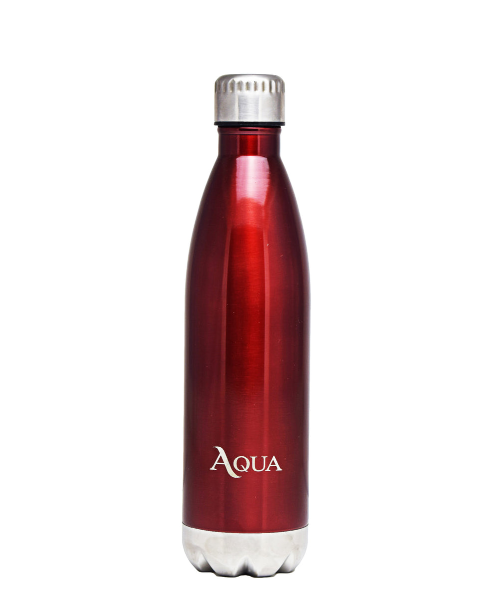 Aqua Double Wall Insulated 500ml Flask - Red
