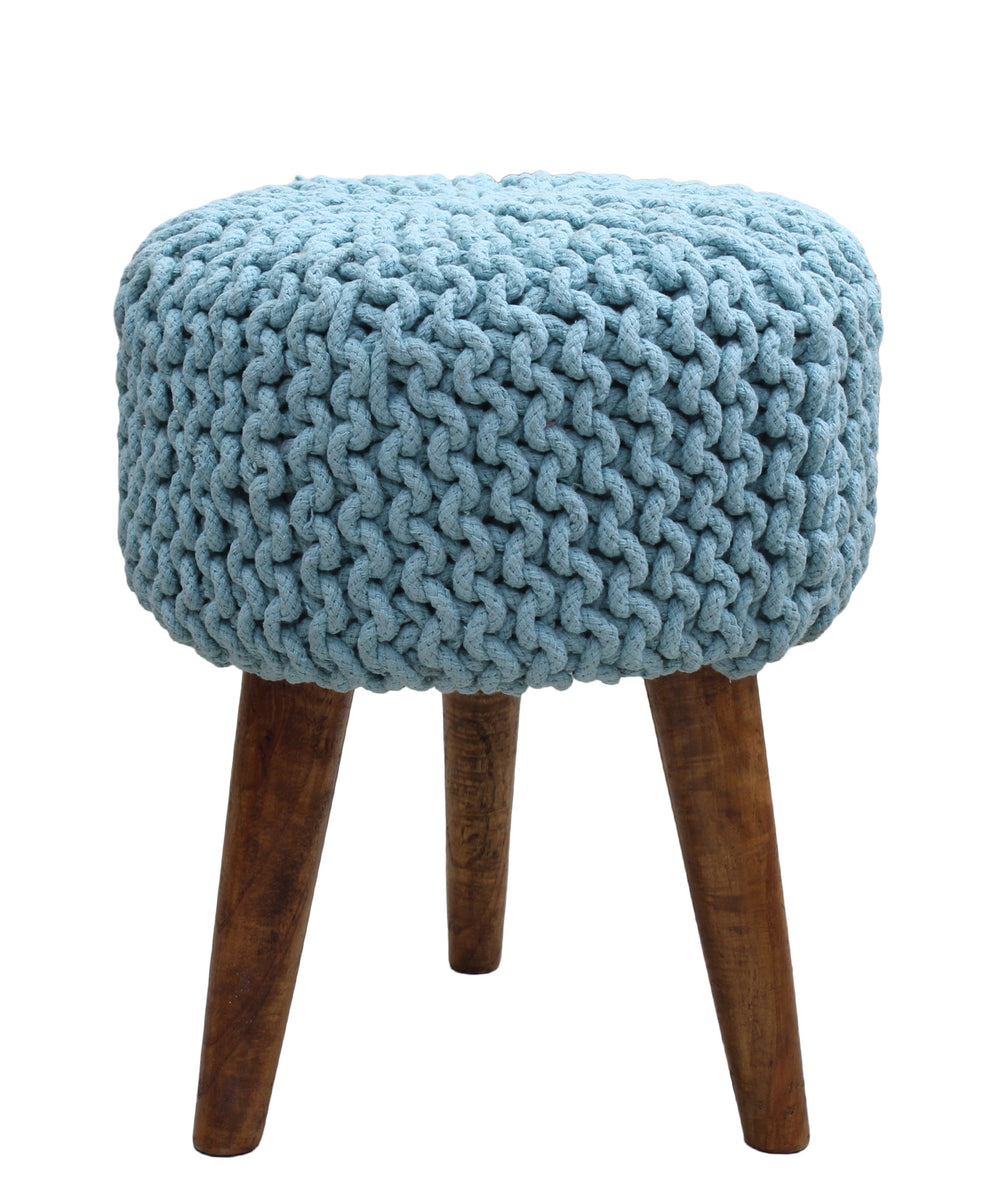 Neo Handmade Stool 470mm - Blue