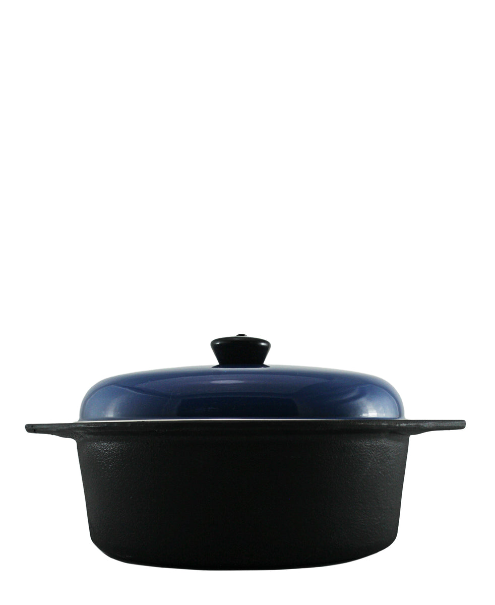 Cordon Bleu 6 Piece Cast Iron Cookware Set - Blue