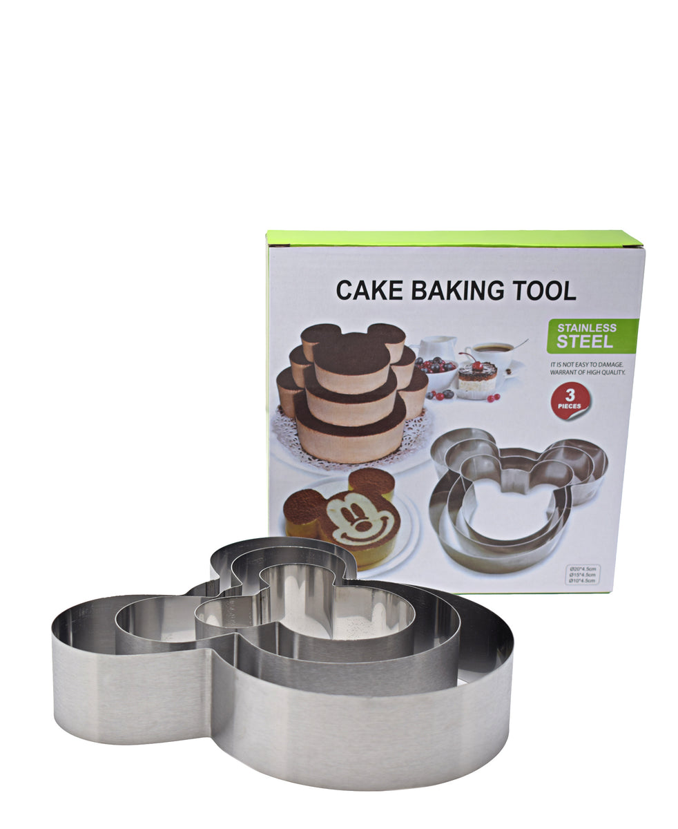 Mickey Mouse Cake Baking Tool - Silver