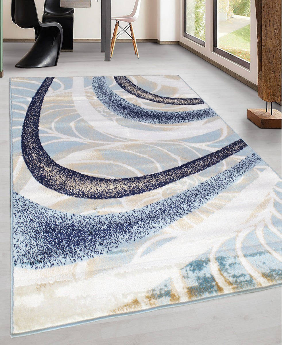 Cape Town Moondust Carpet 1200mm x 1700mm - Blue
