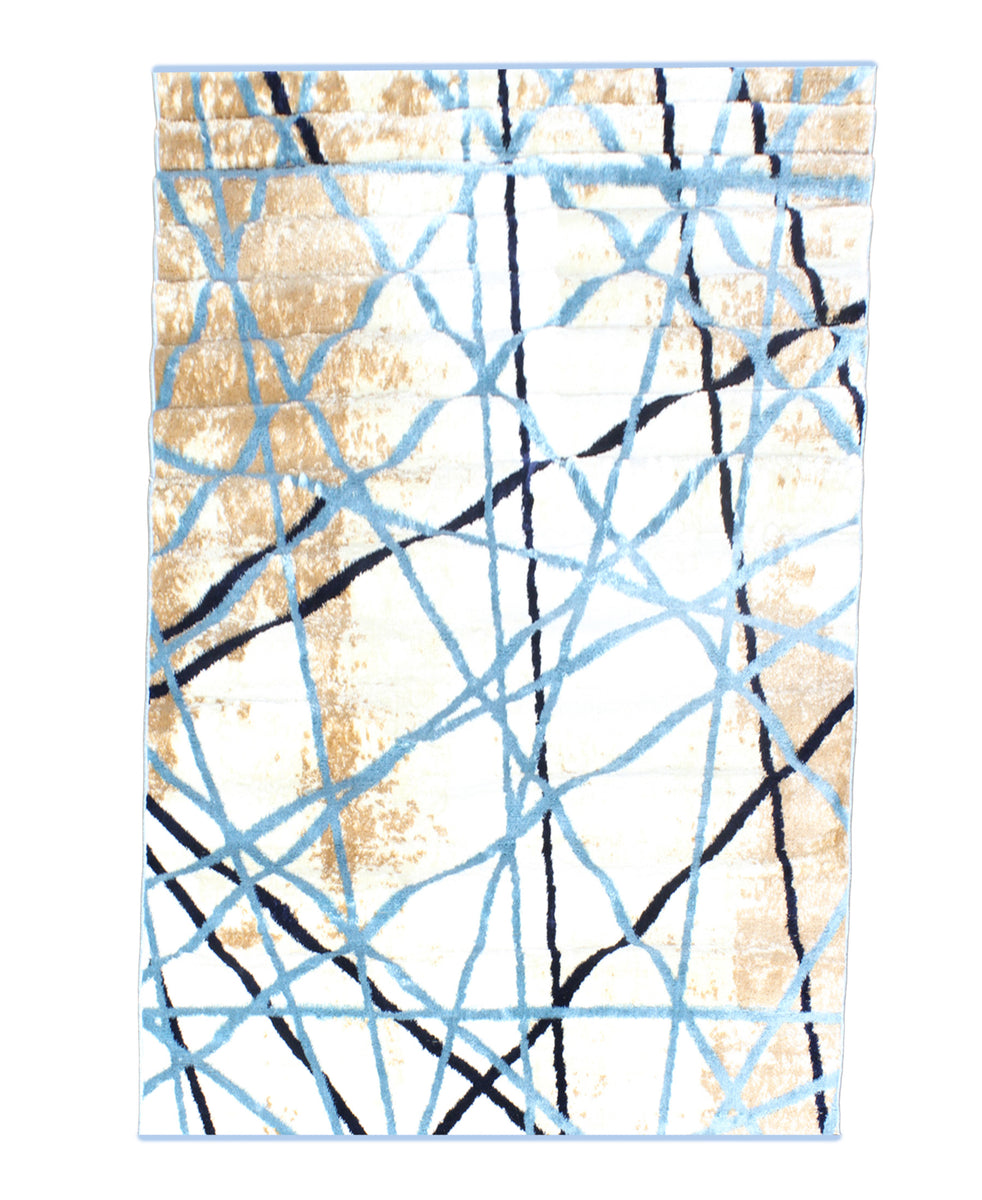 Cape Town Abstract Carpet 1200mm x 1700mm - Blue