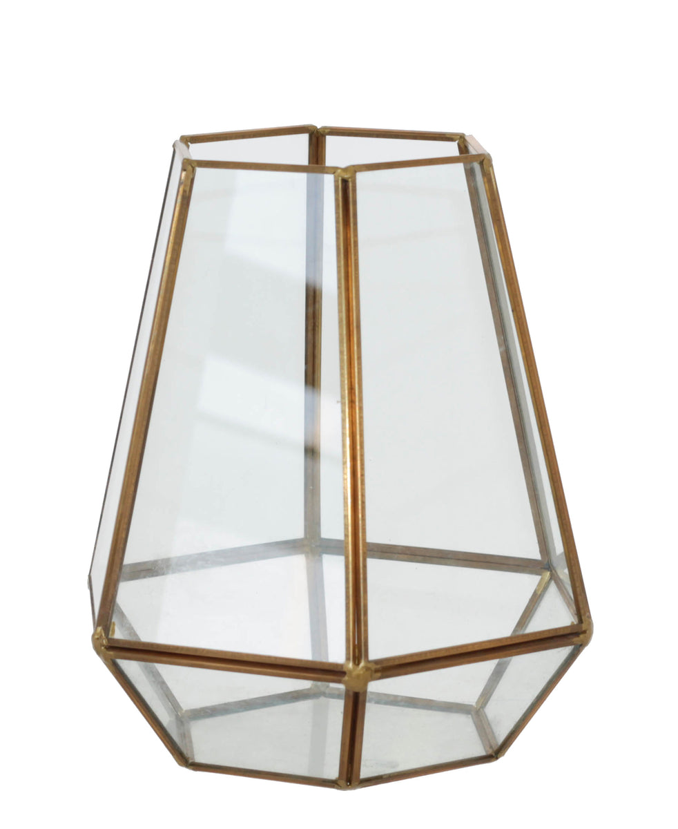 Geo Flower House 20cm - Gold