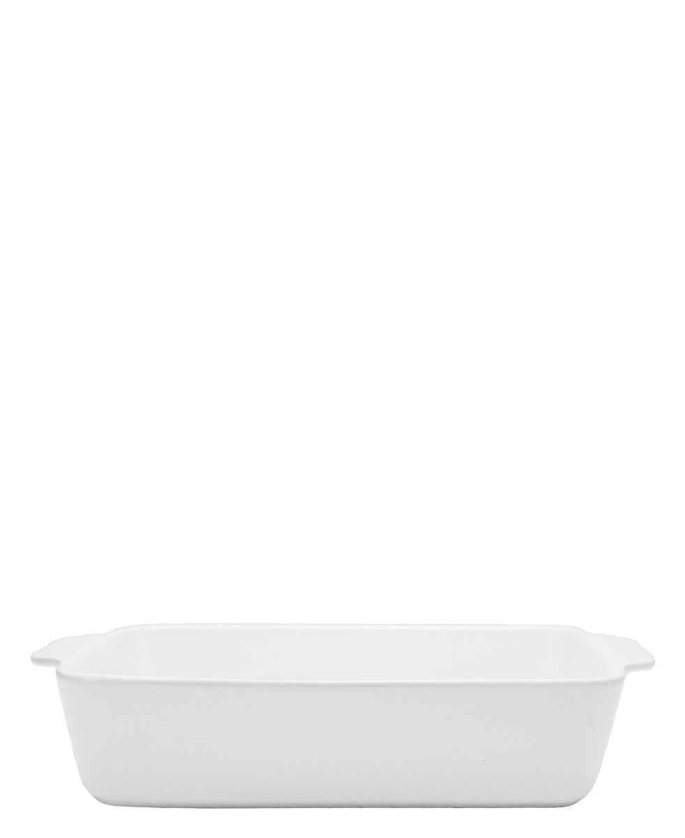 Rectangle Ceramic Baker - White