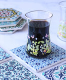 Square Mosaic Coaster Set Of 4 - Blue