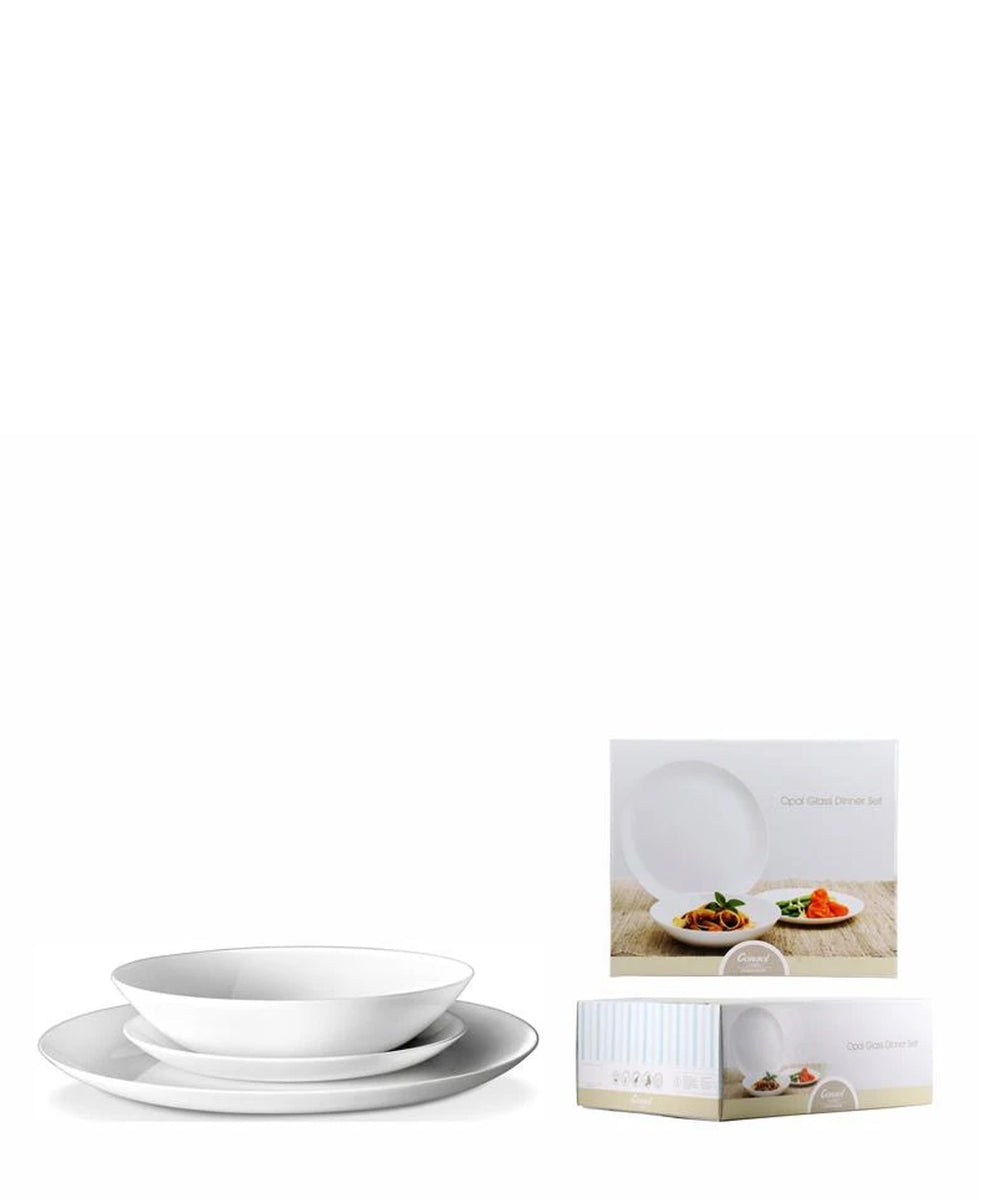 Consol Opal Dinnerware 12 Piece Set - White
