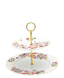 English Rose fine bone china 2 tier serving platter