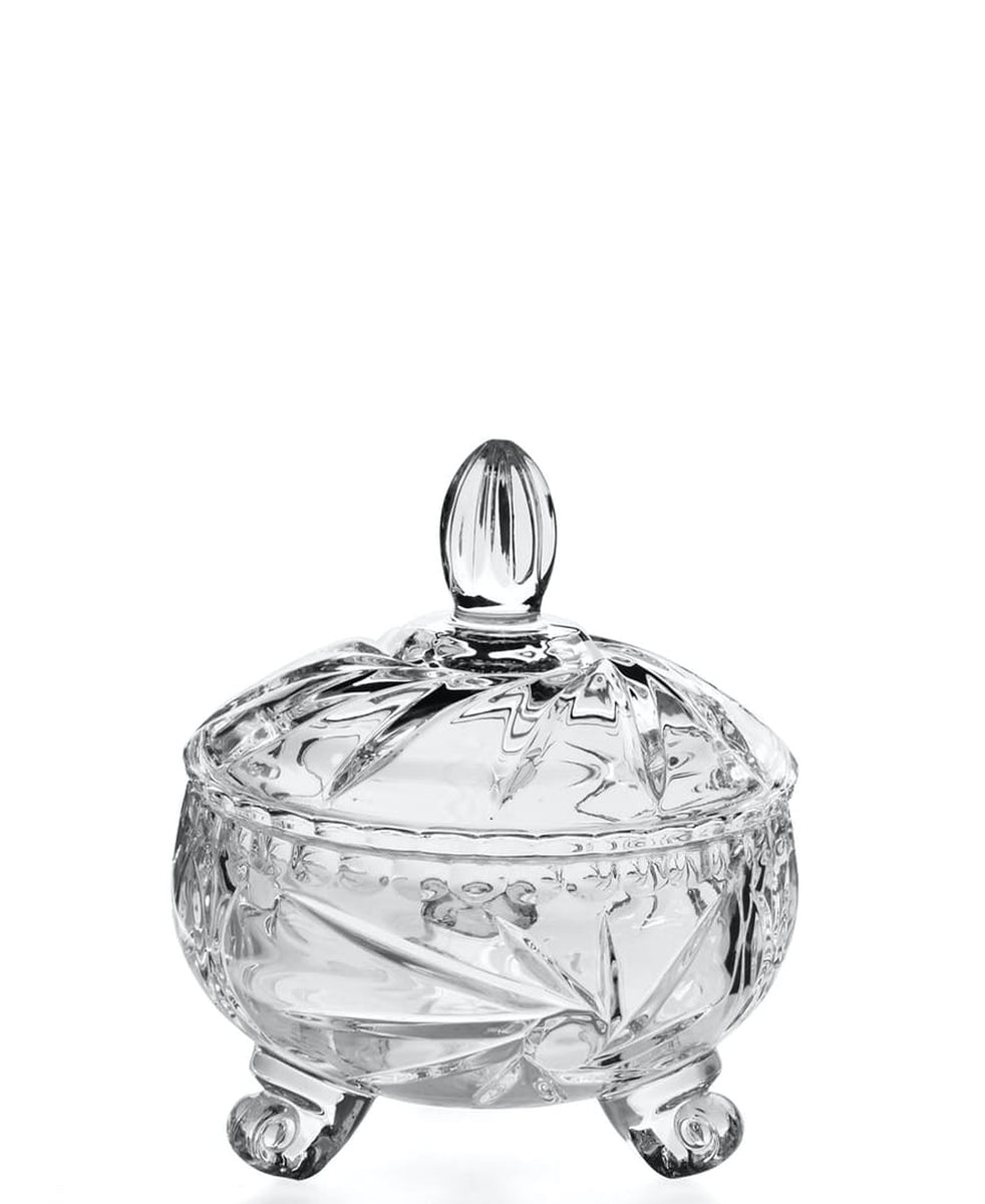 Wechsler Crystal Jar With Lid - Clear