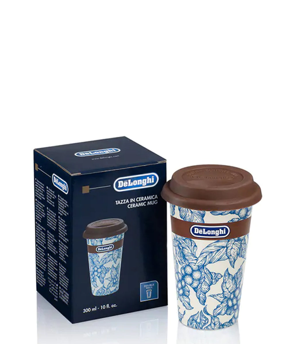 DeLonghi Thermal Coffee Mug - White & Blue