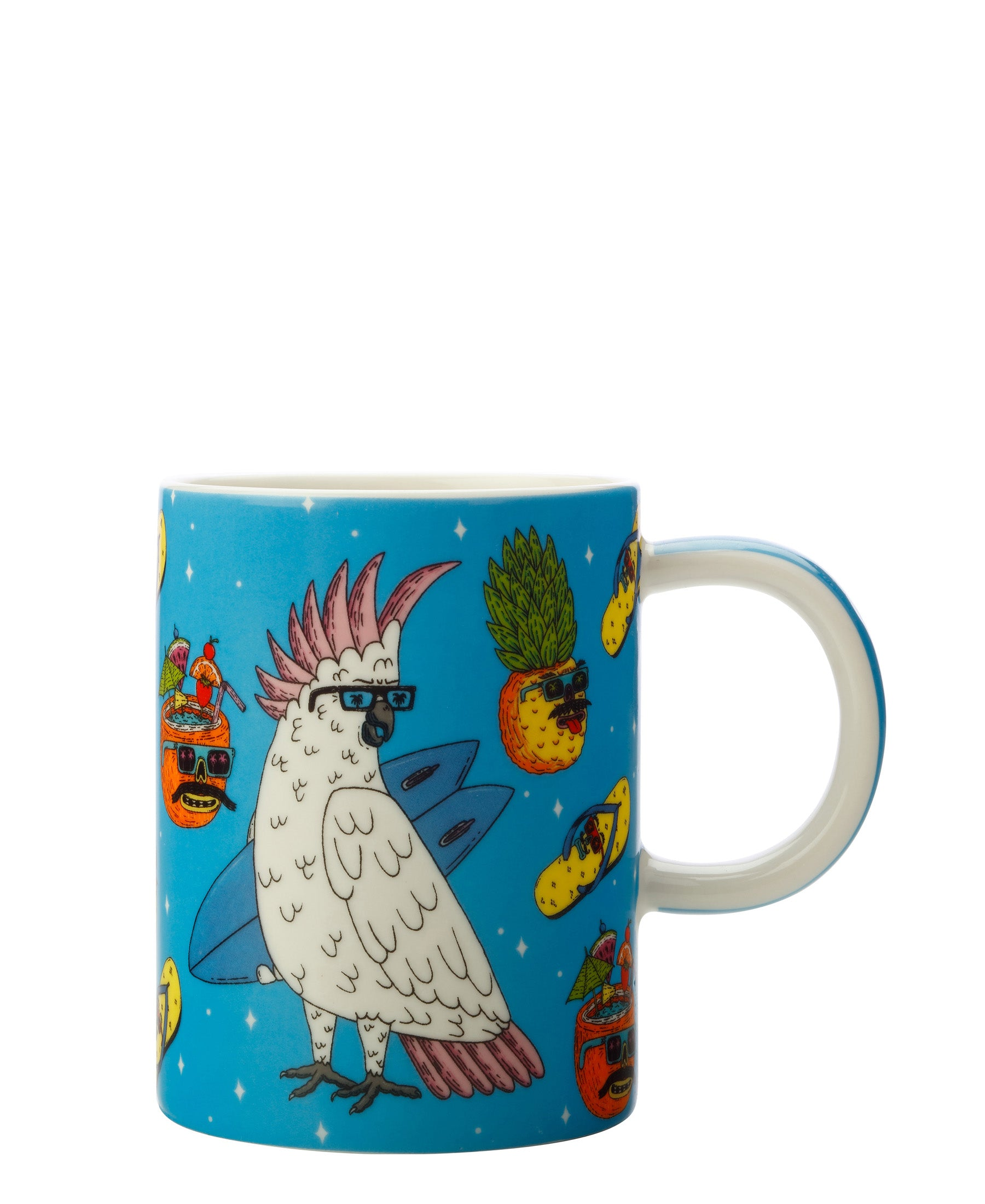 Mulga the Artist Mug 410ML Cockatoo
