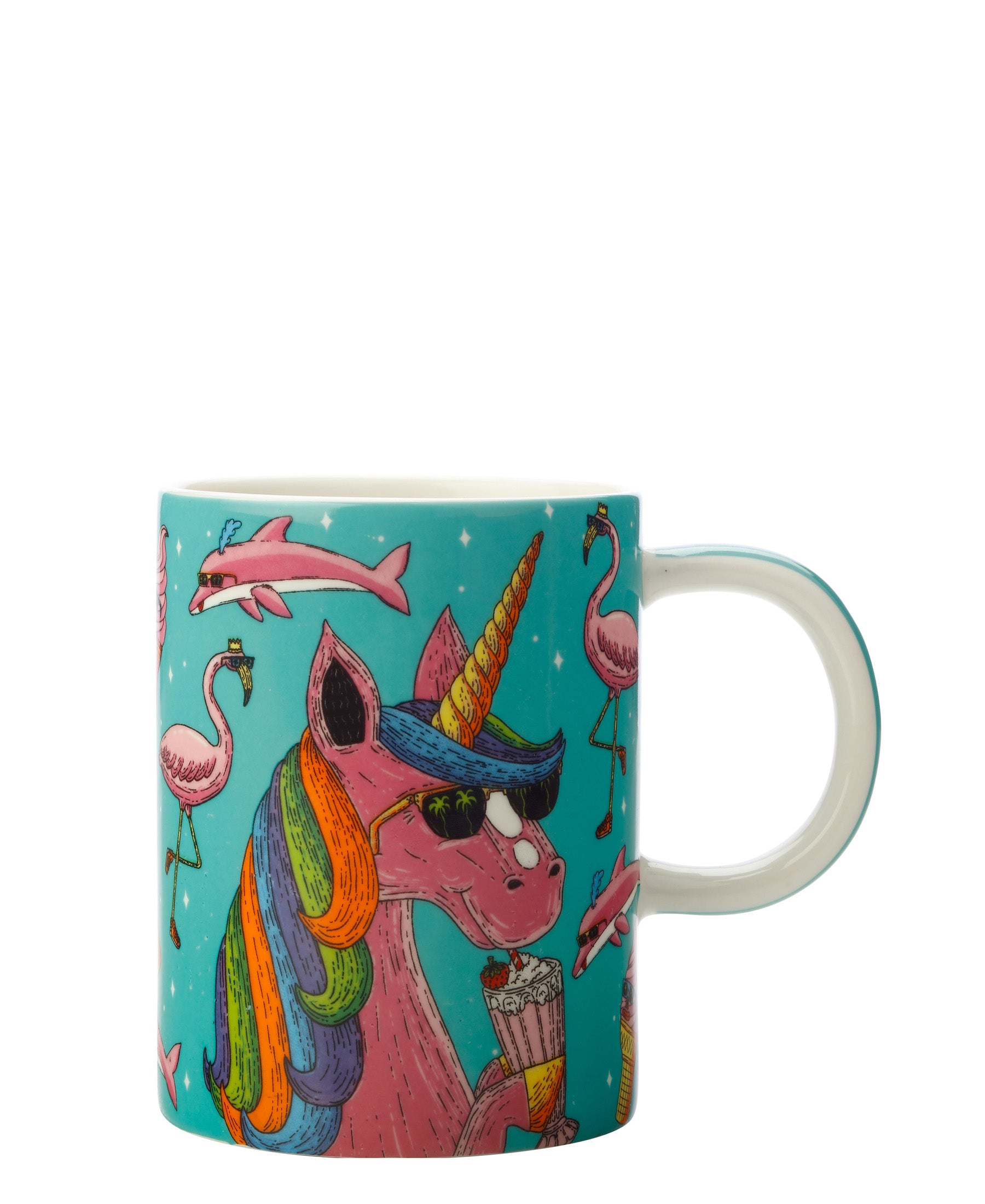 Mulga the Artist Mug 410ML Unicorn