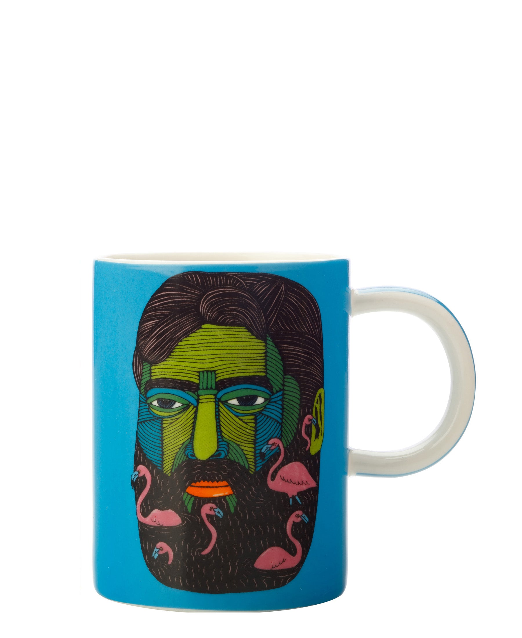 Mulga the Artist Mug 410ML Dolphin man