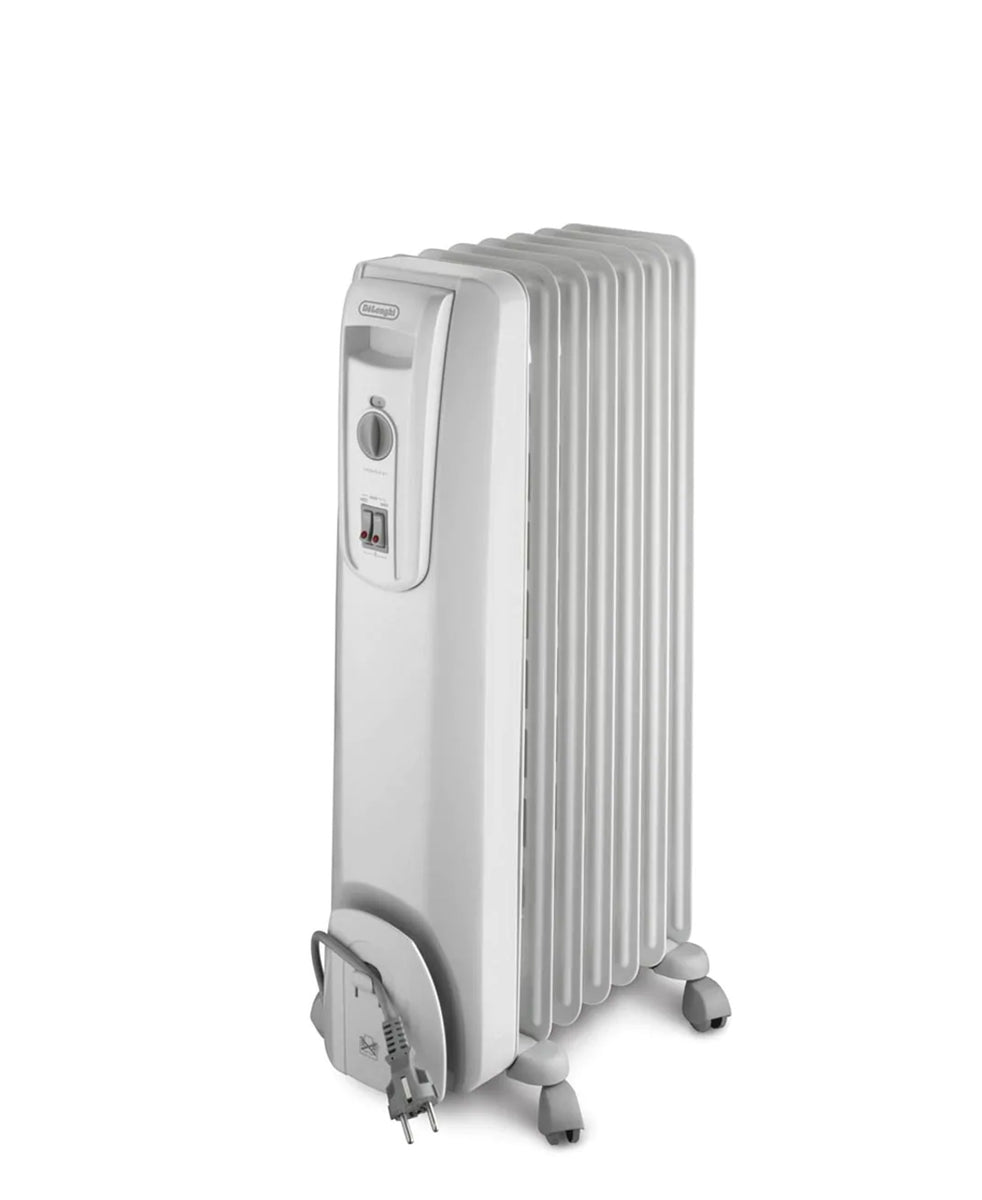 DeLonghi 7 Fin Oil Heater - White