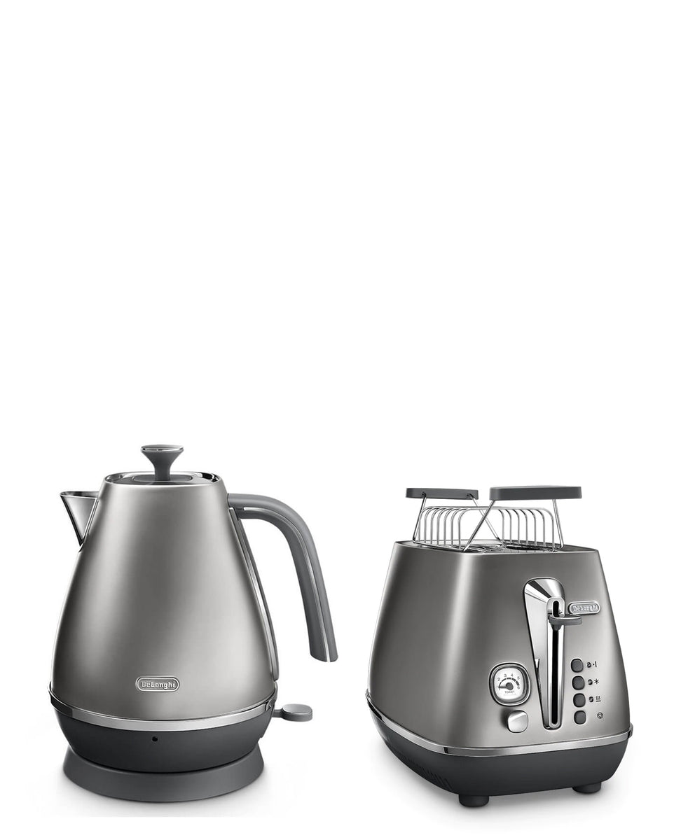 DeLonghi Distinta Flair Kettle & Toaster Combo - Silver