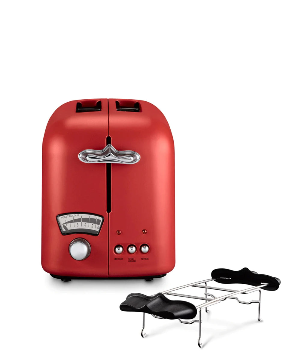 Delonghi Argento Toaster 2 Slice - Red
