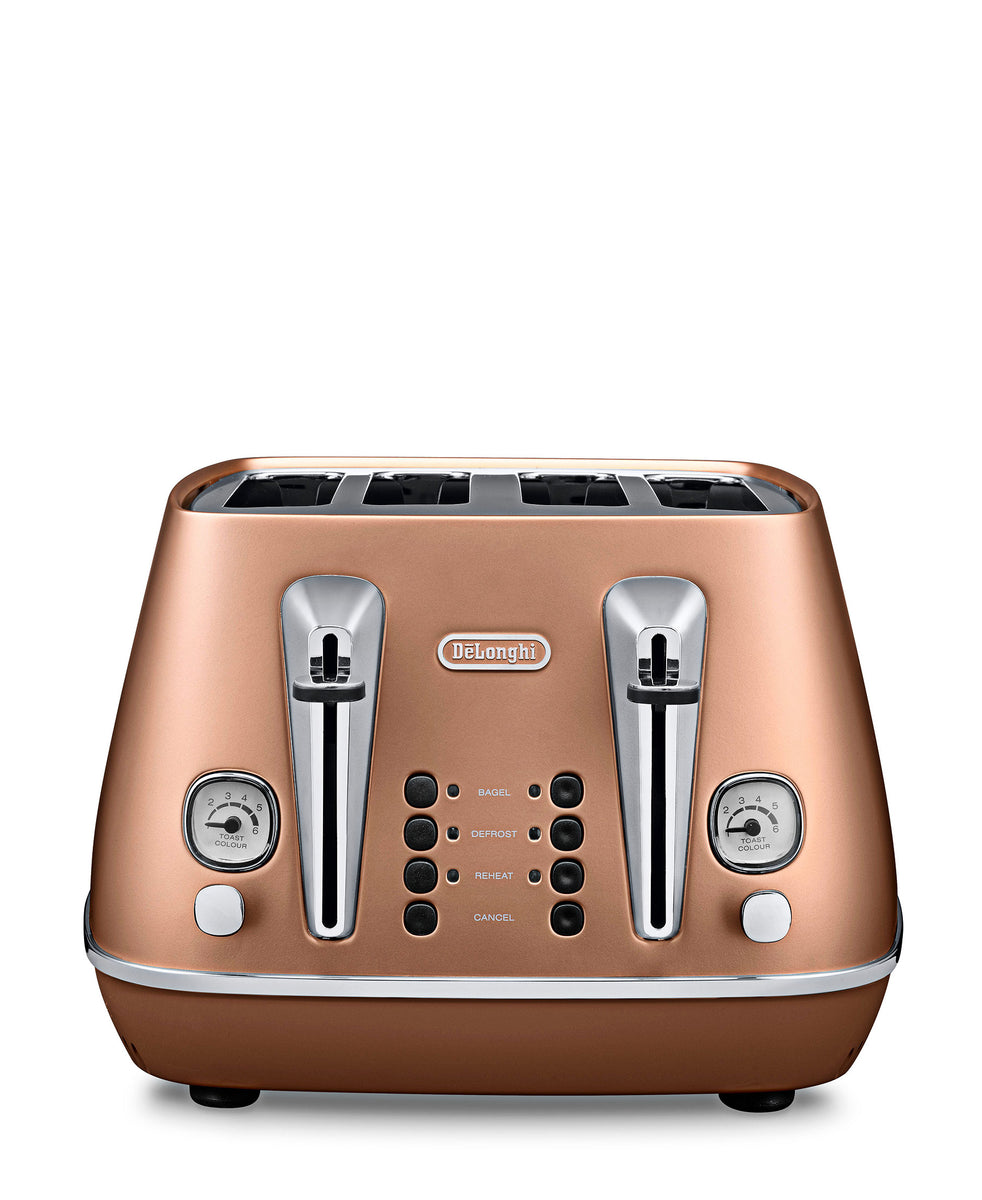 DeLonghi Distinta 4 Slice Toaster - Copper