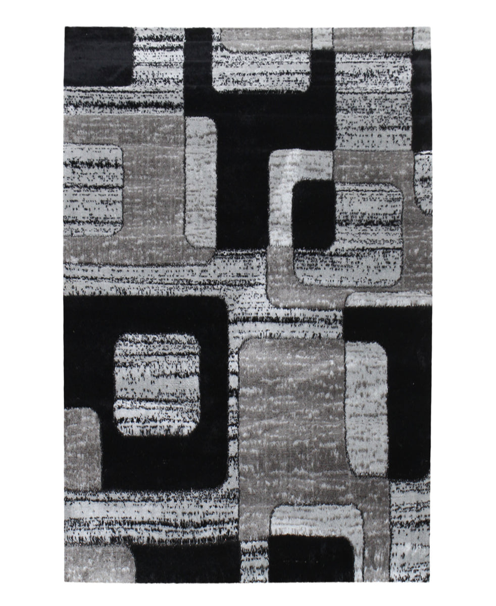 Izmir Jigsaw Carpet 1500mm X 2000mm - Grey