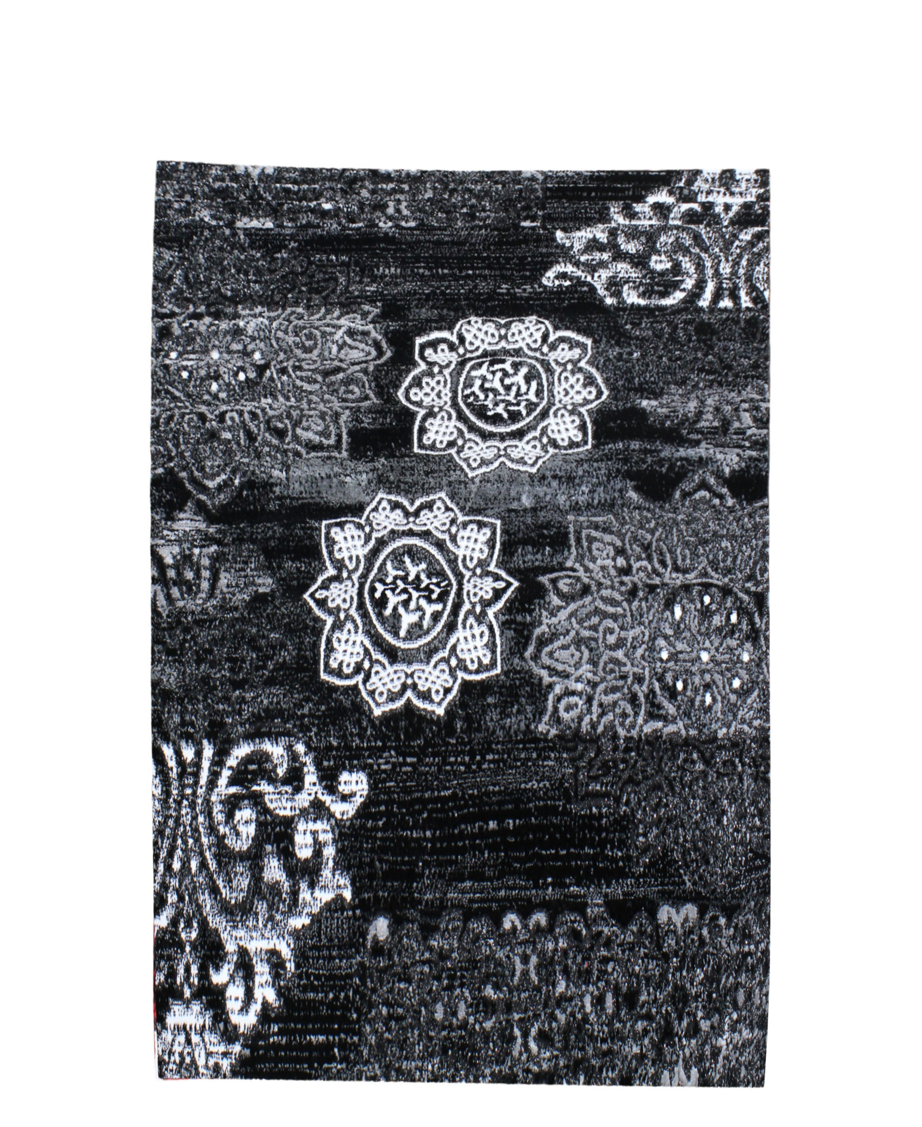 Izmir Ancient Mural Carpet 1500mm x 2000mm - Black