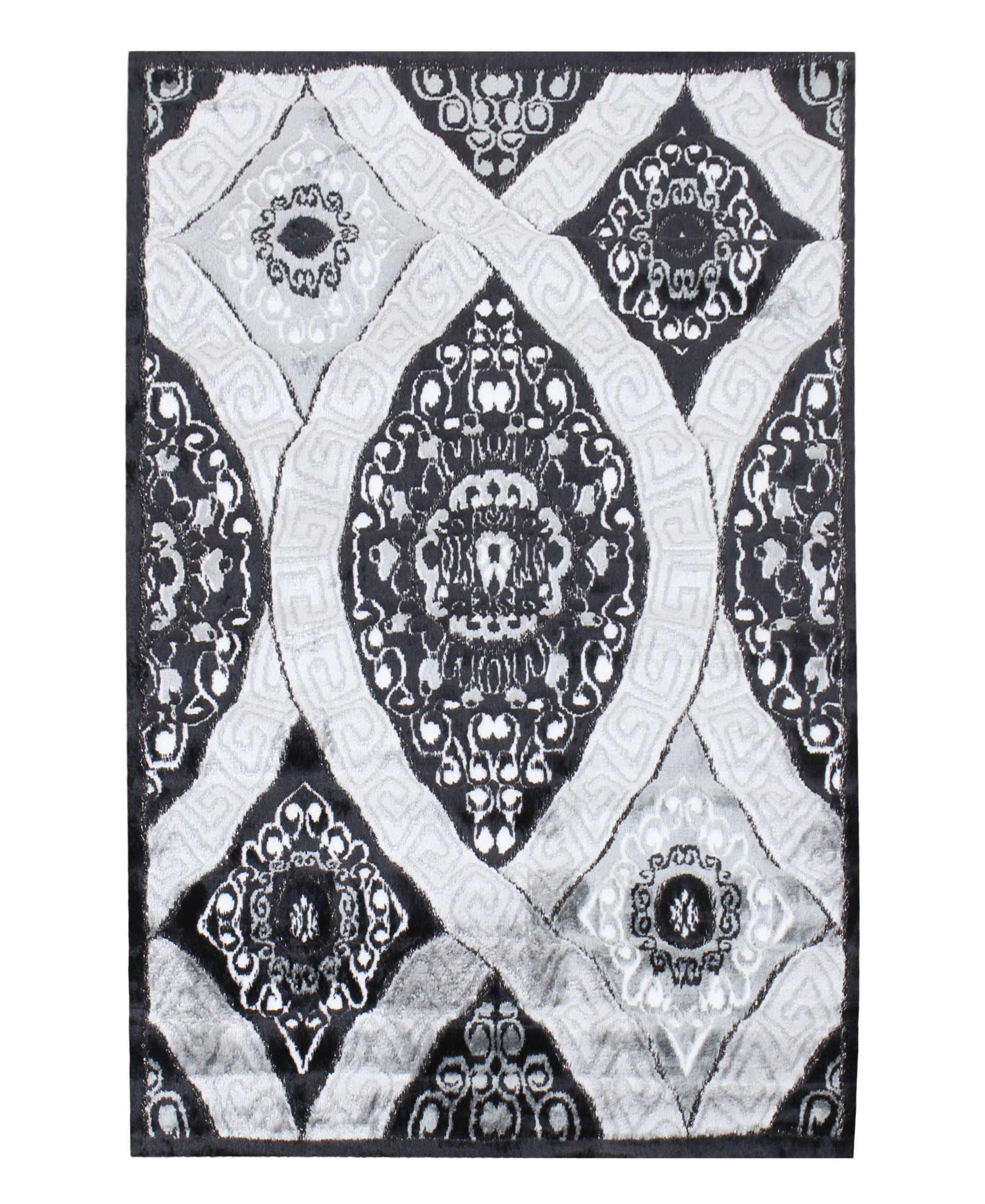 Izmir Diamond Carpet 1500mm X 2000mm - Grey