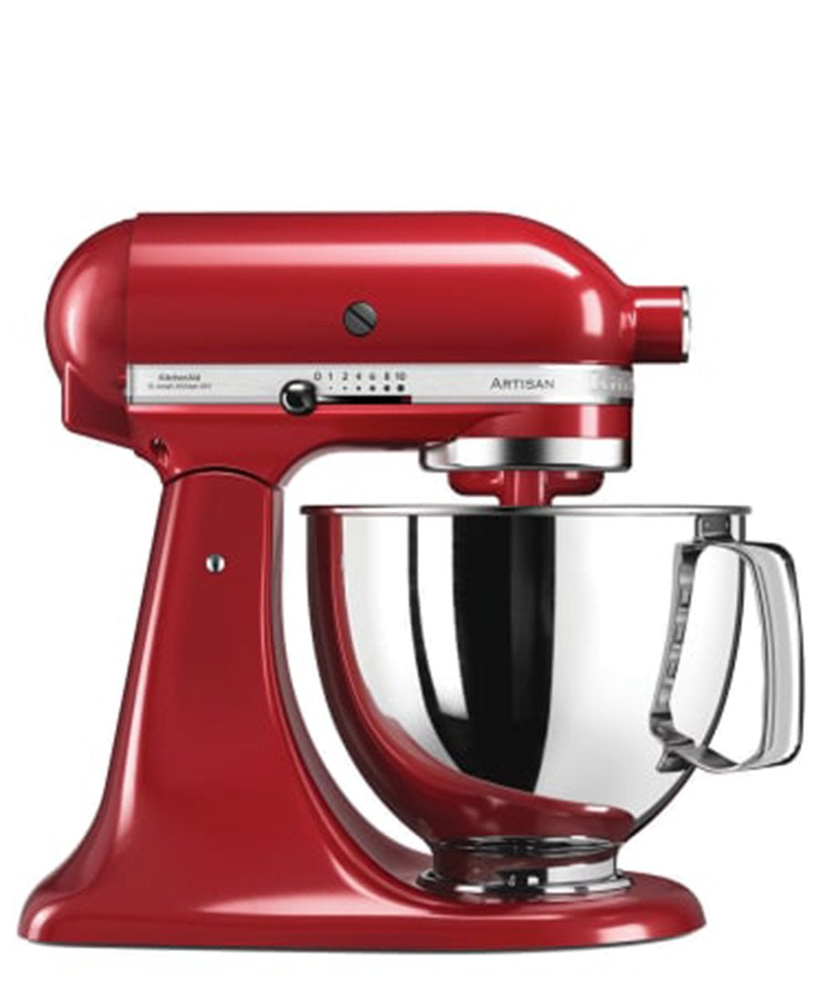 KitchenAid 4.8L Stand Mixer + Free S/S Bowl - Empire Red