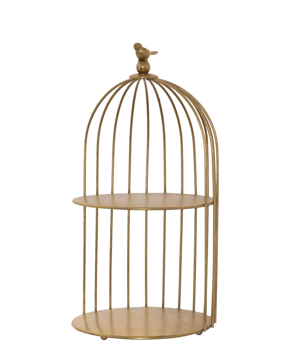 Bird Cage Display Stand 40cm - Gold