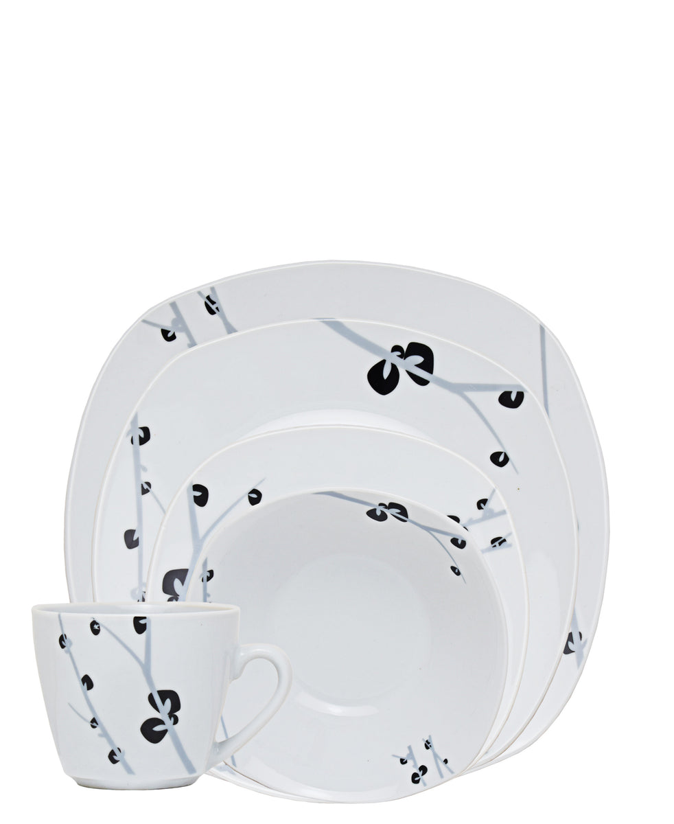 Casa Modeina Floral Dinner Set 20 Piece - White