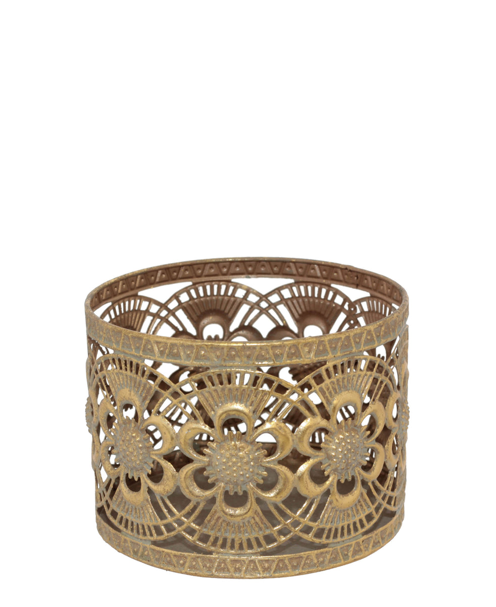 Venice Votive Candle Holder 16 x 12cm - Gold