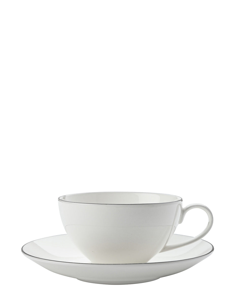 Maxwell & Williams Edge Cup & Saucer - White