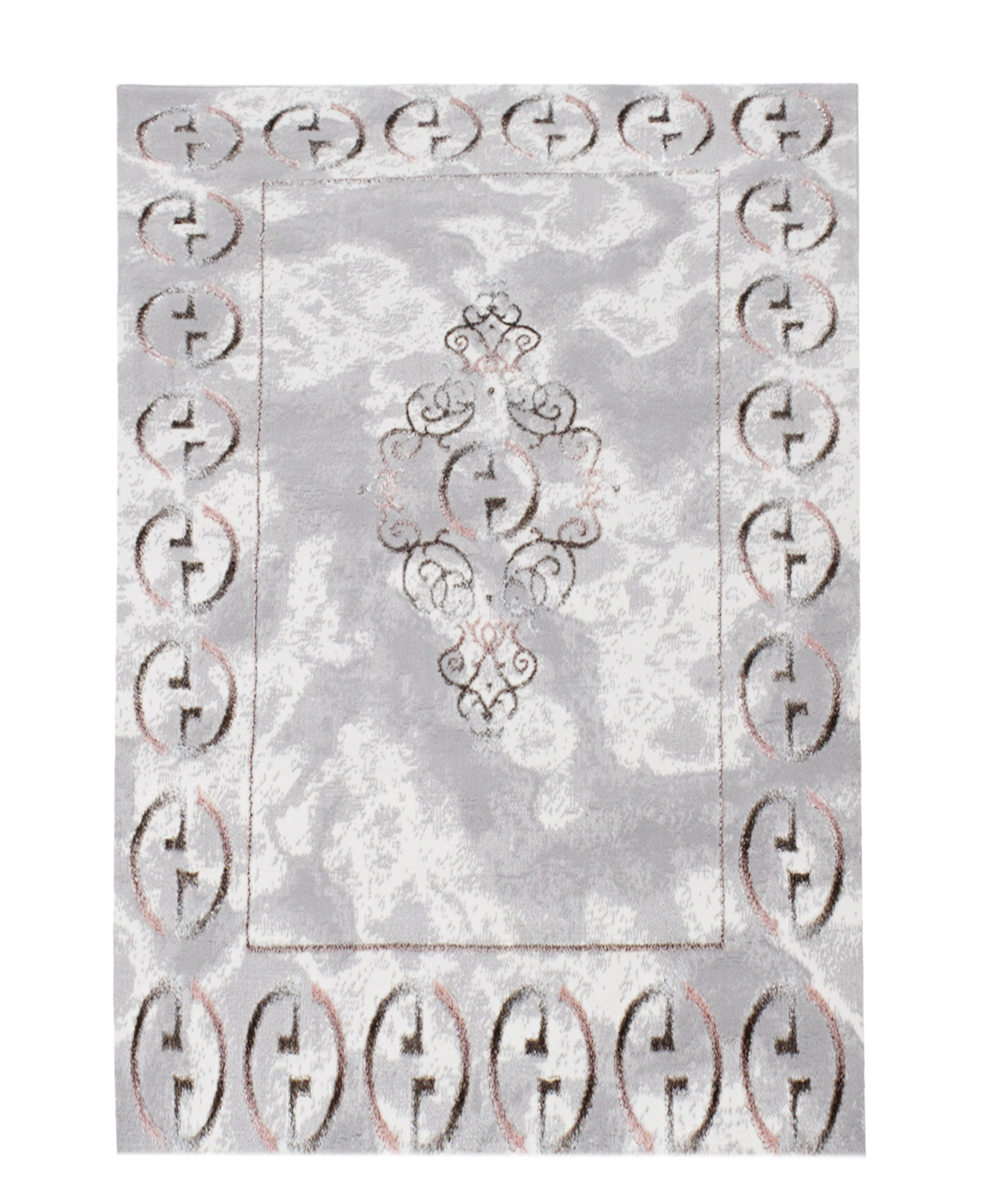 Bodrum Gucci Carpet 2000mm X 2700mm - Grey
