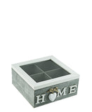 Home Tea Box Small - Grey