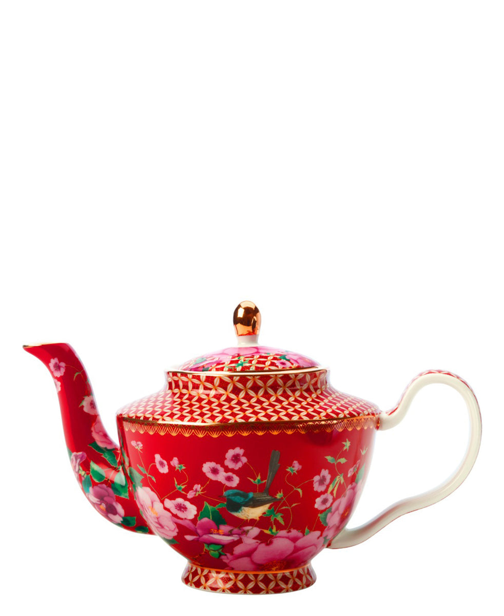 Maxwell Williams Teas & C's Silk Road Teapot with Infuser 500ML Cherry Red Gift Boxed