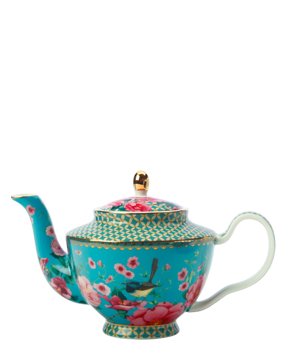 Maxwell Williams Teas & C's Silk Road Teapot with Infuser 500ML Aqua Gift Boxed