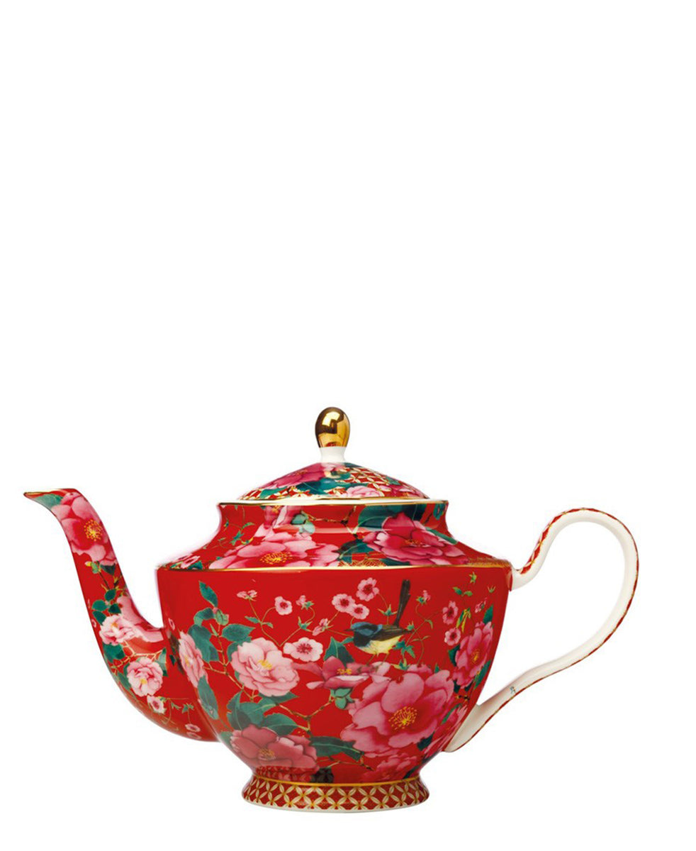 Maxwell Williams Teas & C's Silk Road Teapot with Infuser 1L Cherry Red Gift Boxed