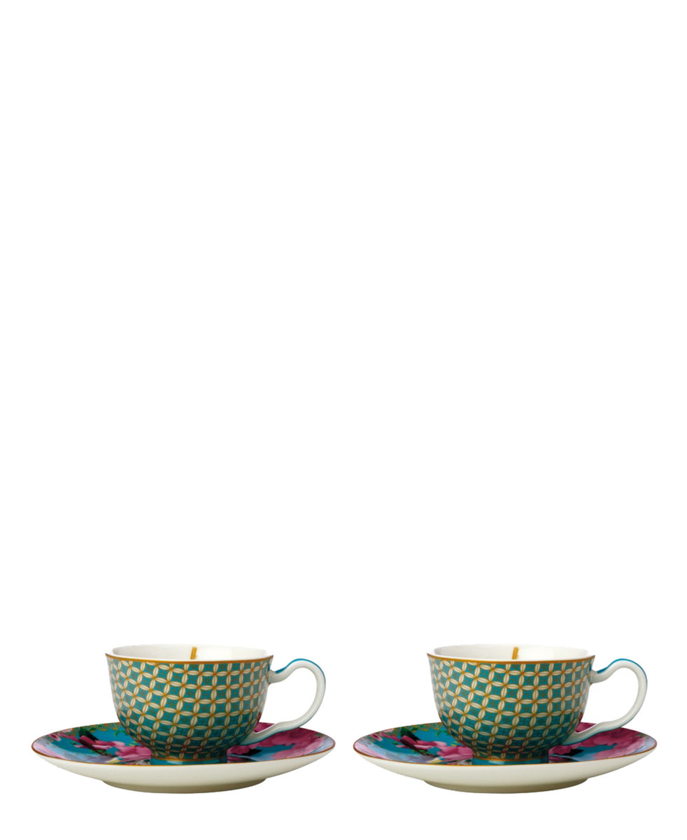 Maxwell & Williams Silk Road Demi Cup & Saucer 2 Piece - Green