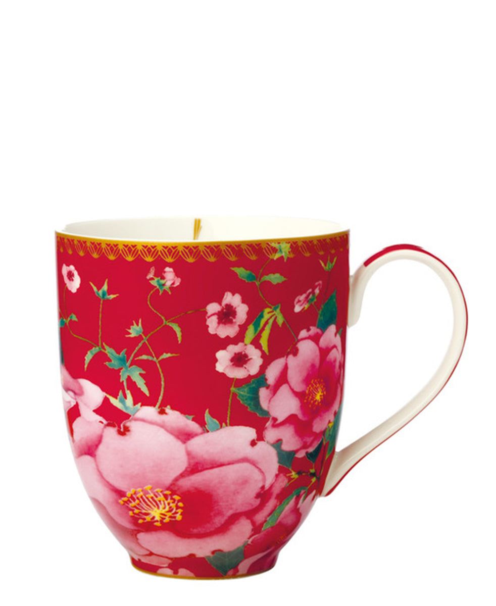 Maxwell & Williams Teas & C's Silk Road 440ml Coupe Mug - Red