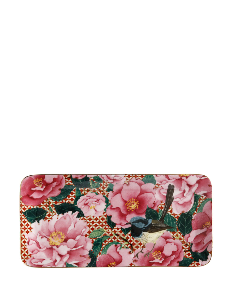 Maxwell & Williams T's and C's Silk Road Rectangular Platter 25 x 12cm - Pink