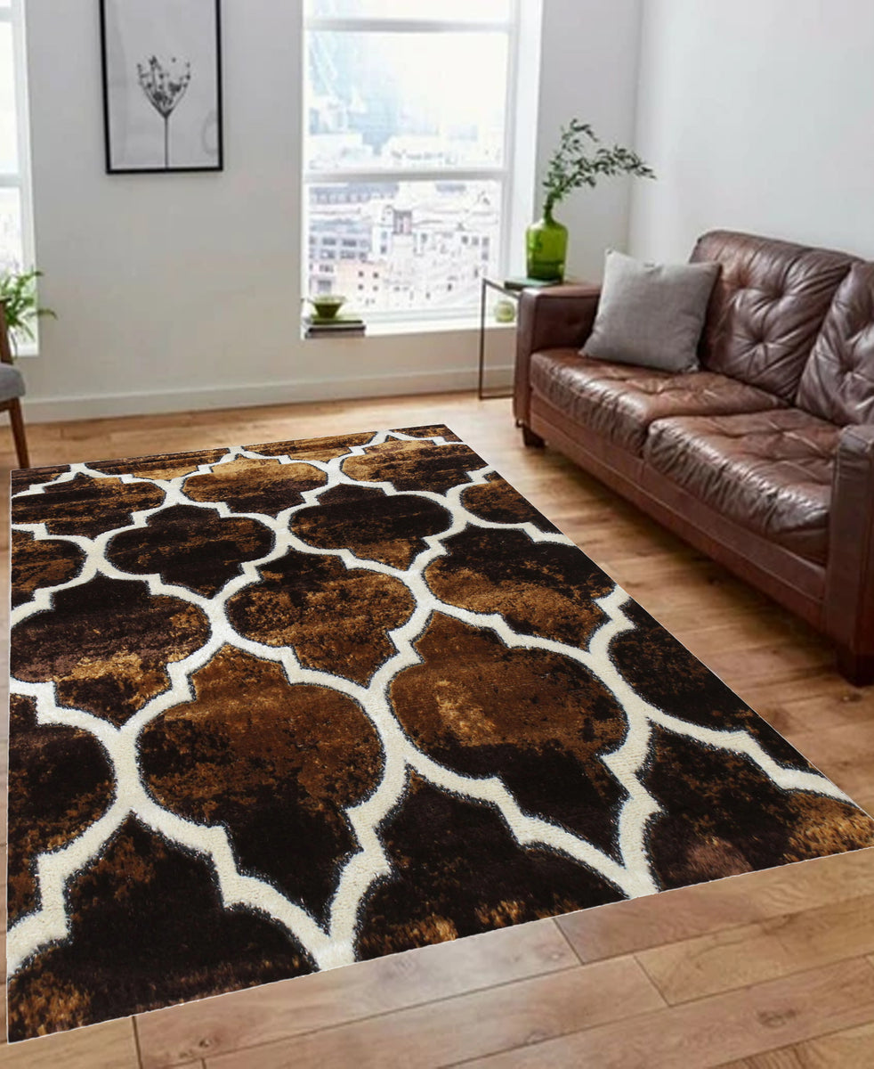 Izmir Ace Of Spades Carpet 1200mm X 1600mm - Chocolate