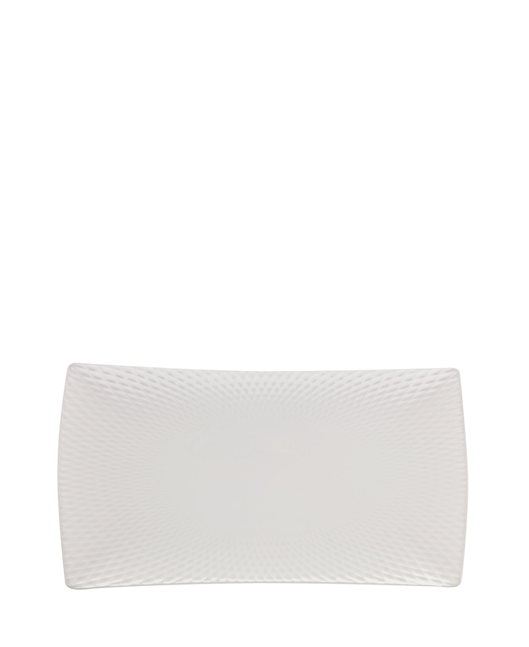 Maxwell & Williams Diamonds Rect Platter - White