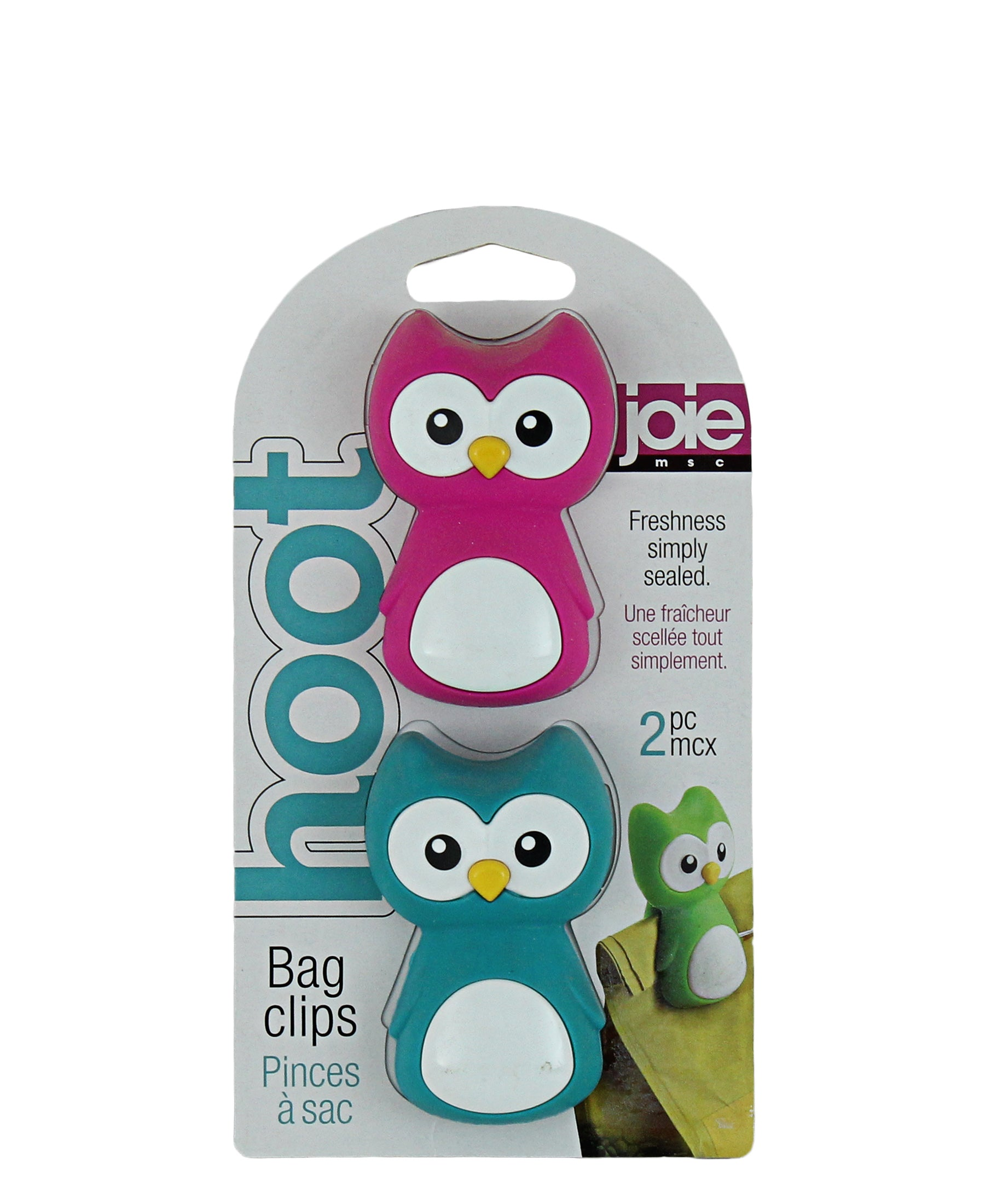 Joie Hoot Bag Clips - Pink & Blue
