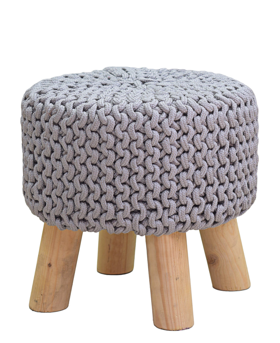 Neo Handmade Stool 340mm - Light Grey
