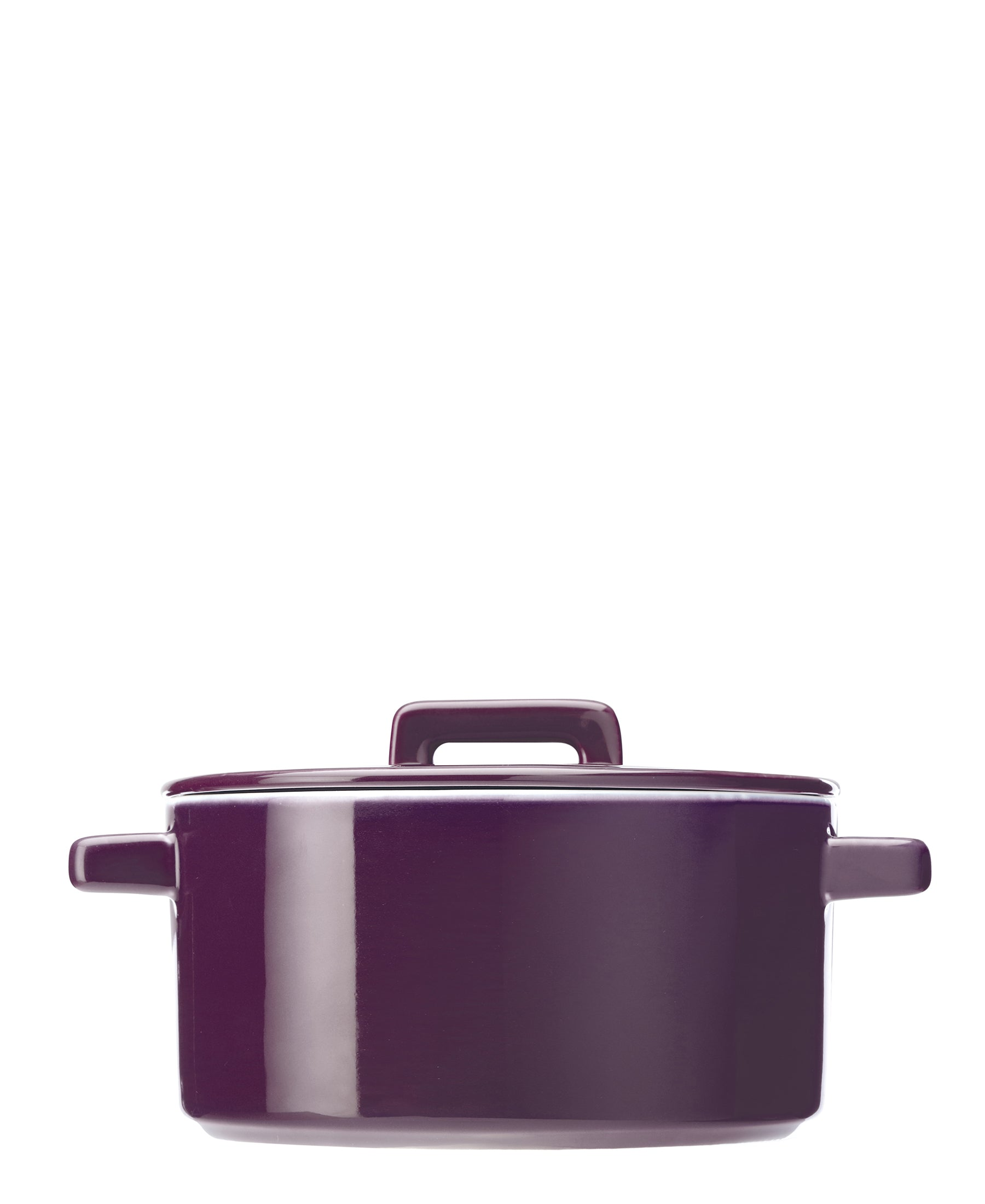 Maxwell & Williams Epicurious Aubergine Round Casserole with Lid 2.6L
